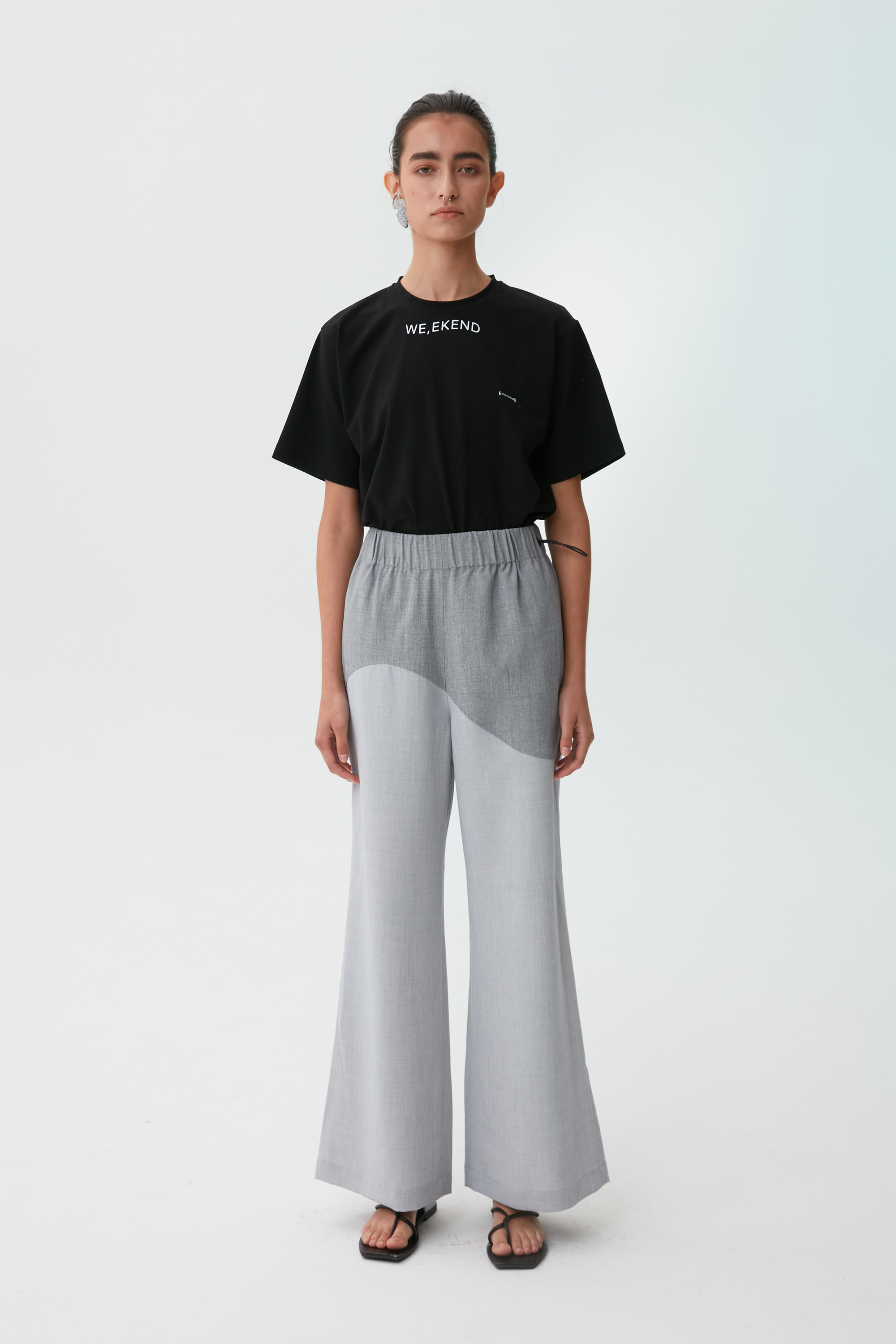 [21 SUMMER] WAVE WIDE PANTS (GRAY)
