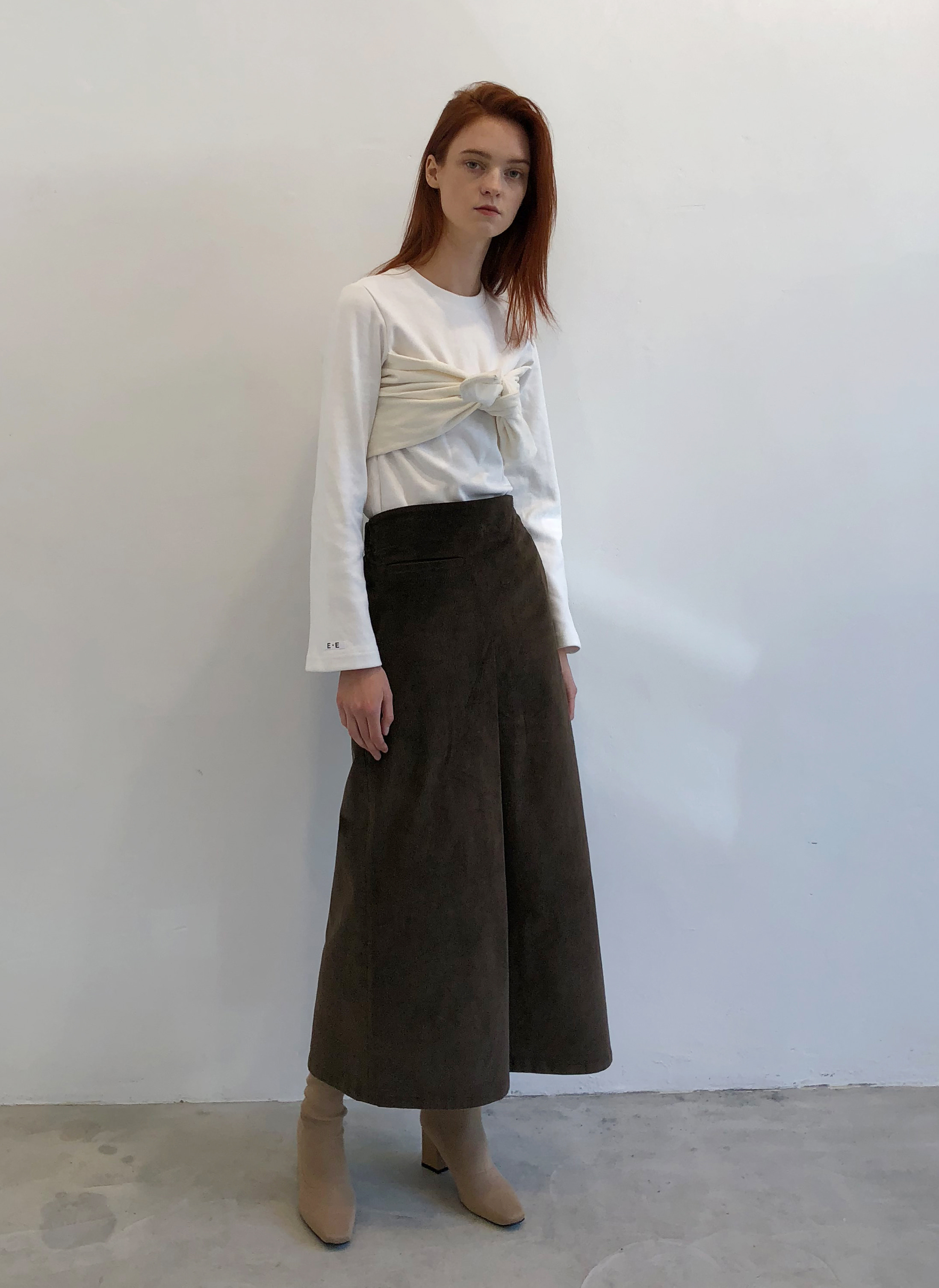 [EVENT] 18 WINTER corduroy long skirt (brown)