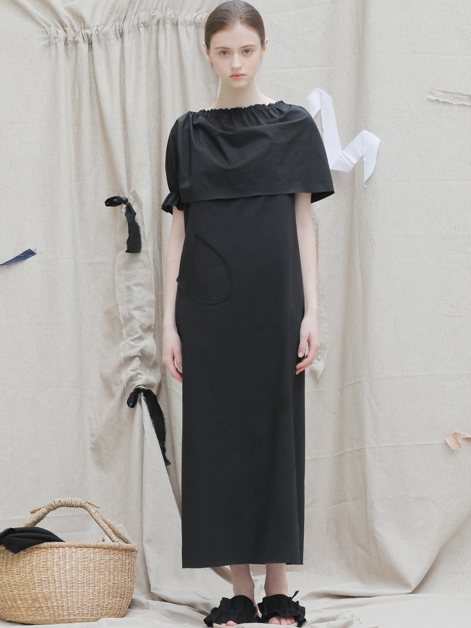 [EVENT] 17 SS cape long dress (blk)