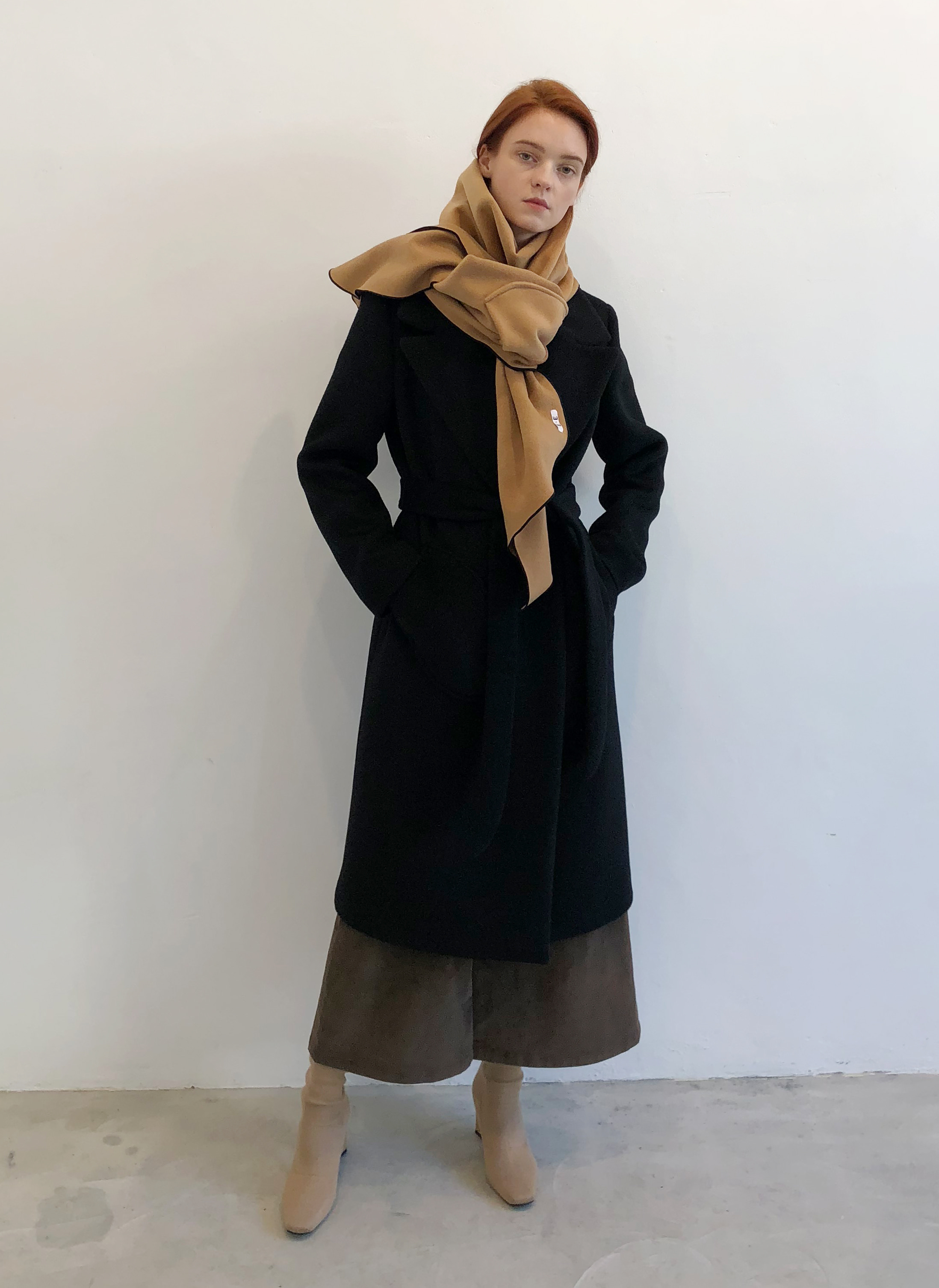 [EVENT] 18 WINTER wool+cashmere pocket muffler (beige)