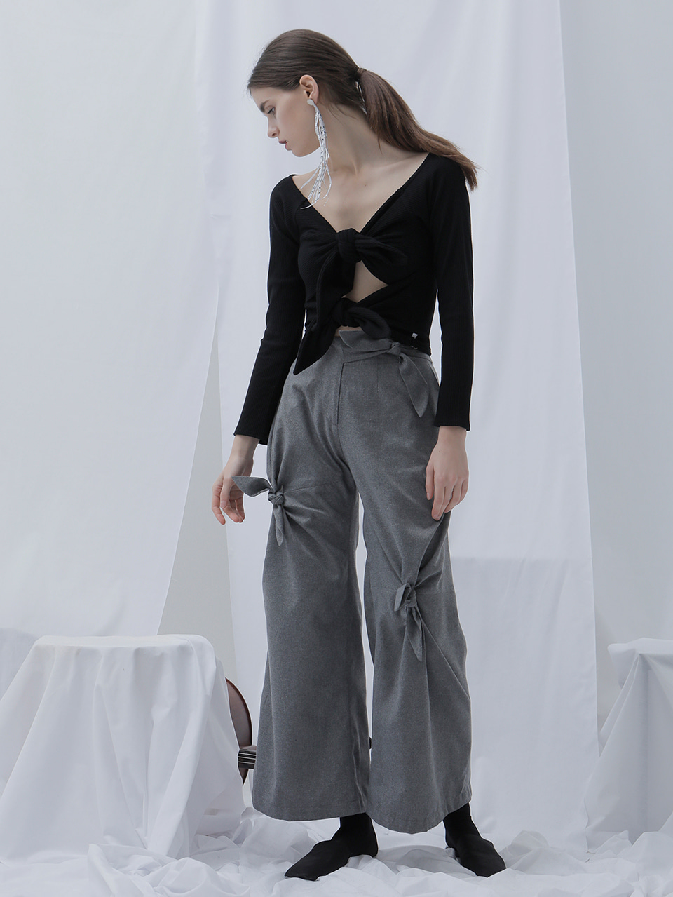 [EVENT] 17 WINTER ribbon wide pants (gray)