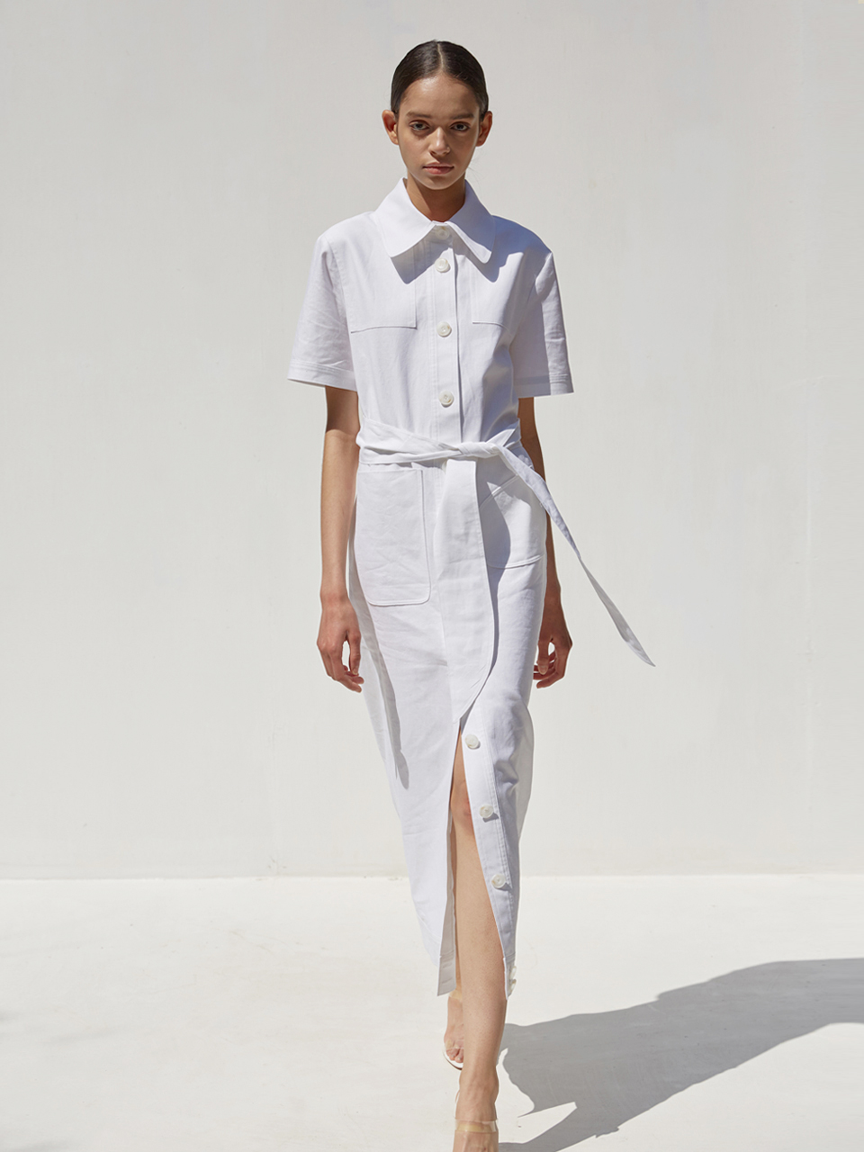 [EVENT] 19 SS linen shirt dress (white)